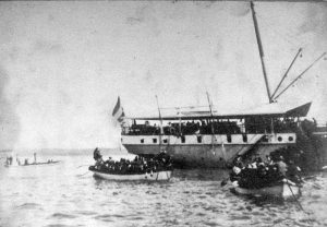 Holland csapatok partraszállása Sanurban, 1906