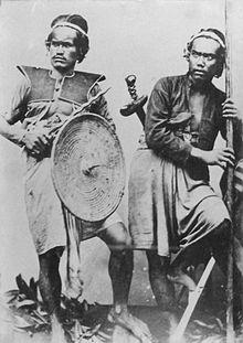 Balinéz harcosok 1880-as évekből