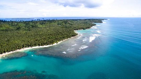 Mentawai-szigetek partvonala
