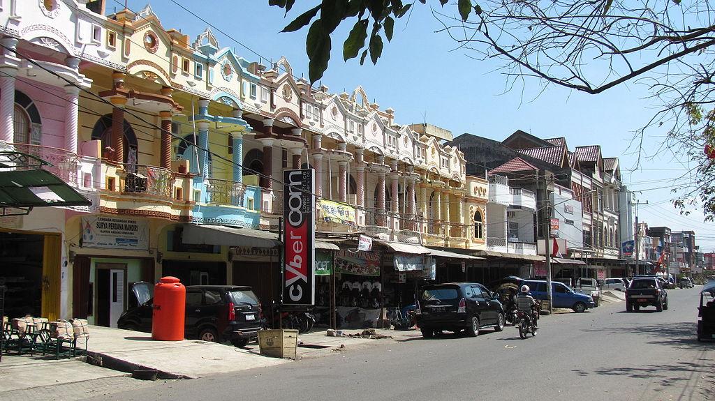 Sengkang bevásáló utcája