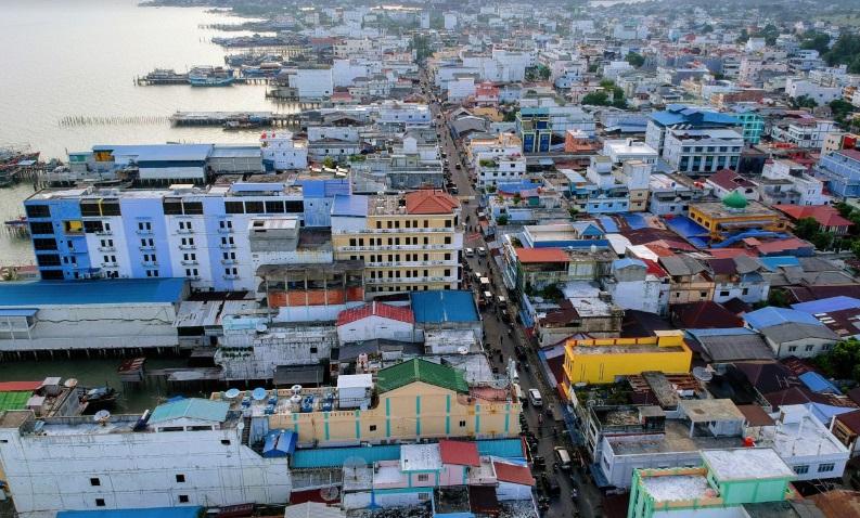 Tanjungbalai Karimun város látképe